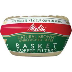 Melitta 8-12 Cup Brown Basket Coffee Filter (100-Pack) 62994