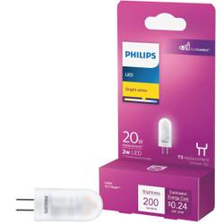 Philips 2W Clear T3 Bi-Pin LED Landscape Low Voltage Light Bulb 477174