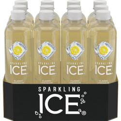 Talking Rain Sparkling Ice 17 Oz. Water, Classic Lemonade 622322 Pack of 12