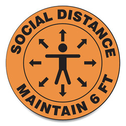 Accuform Sign,Social Distance 12in MFS380ESP