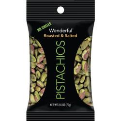 Wonderful 2.5 Oz. Roasted Shelled Pistachios 114789 Pack of 8