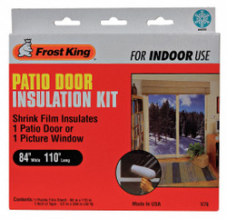 Frost King Patio Door Kit, 84 x 110 In Clear  Plastic  V76H