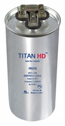 Titan Hd Round Motor Dual Run Capacitor, 55/5 Microfarad Rating, 440VAC Voltage