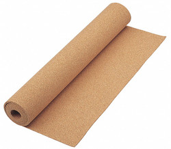 "Bulletin Board Roll,  48"" Height,  24"" Width,  Natural Cork,  Number of Pieces 1"