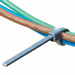 "11.50""L x 0.19""W Standard Indoor Cable Tie, Blue; Tensile Strength: 50 lb."