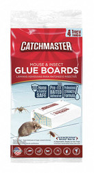 Catchmaster Bait Box Glue Trap for Crickets, Roaches, Spiders, 4PK   18-72