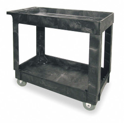 Rubbermaid Commercial Products Utility Cart with Deep Lipped Plastic Shelves