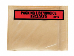 3m Packing List Envelope Clear  Polyethylene  PLE-T2