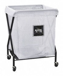 "1-Compartment X-Frame Laundry Cart, 150 lb. Capacity, 26"" L X 21"" W X 35-1/2"" H"