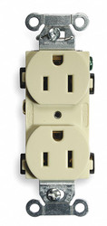 15,  Commercial,  Receptacle,  Ivory,  No Tamper Resistant