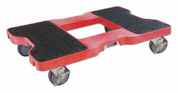 "Snap-loc 32""L x 20-1/2""W x 7""H Red General Purpose Dolly, 1500 lb. Load Capacity"