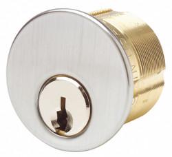 Kaba Ilco Lockset Cylinder, Mortise Cylinder, PK2 Brass 7185SC2-26D-KA2