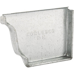 NorWesco 4 In. Galvanized Right Gutter End Cap OG4ECRHG