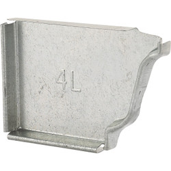 NorWesco 4 In. Galvanized Left Gutter End Cap OG4ECLHG
