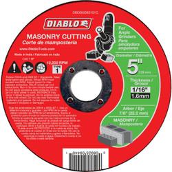 Diablo Type 1 5 In. x 1/16 In. x 7/8 In. Masonry Cut-Off Wheel DBD050063101C