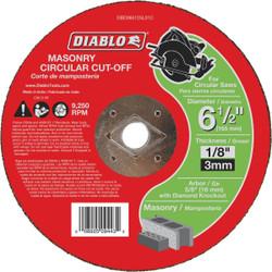Diablo Type 1 6-1/2 In. x 1/8 In. x 5/8 In. Masonry Cut-Off Wheel DBD065125L01C
