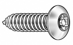 "#10 x 3/4"" Black Oxide Steel Tamper Resistant Screw with Button Head Type, 25 PK"