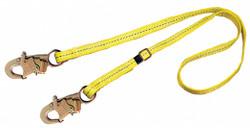 3m Dbi-sala Adjustable Length Positionining Lanyard Yellow   1231016