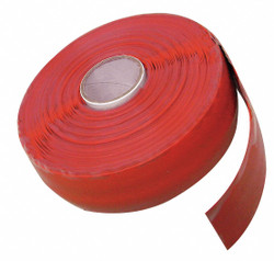 """Super Glue 1""""W Silicone Repair Tape, Red, 120"""" Length Red  Silicone  15406-12"""