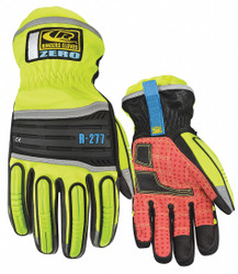 Cold Protection Gloves,  L,  Thinsulate Lining,  Hi-Visibility Yellow/Red,  1 PR