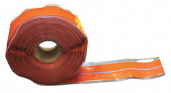 """1""""W Silicone Rubber Triangle Self Fusing Tape, Red Oxide/Blue, 432"""" Length"""