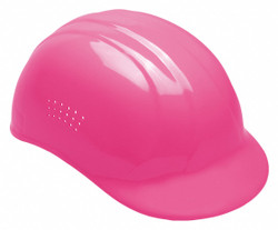 Bump Cap,  Front Brim,  Hi-Visibility Pink,  Fits Hat Size 6-1/2 to 7-3/4
