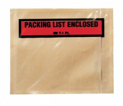 3m Packing List Envelope Clear  Polyethylene  PLE-T1