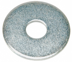 """#0x1/4"""" O.D., Large OD Flat Washer, Stainless Steel, 18-8, Plain, PK10"""