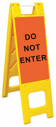 """A-Frame, Unrated with Signage, 45"""" x 3"""" x 13"""", Yellow"""