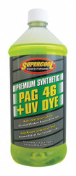 A/C Compressor PAG Lubricant, w/UV Dye, 32 oz., Plastic Bottle, Red/Yellow Tint