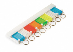 "10"" x 2-1/2"" Open/Close Flap Holder w/8 Key Tags, Assorted; PK1"