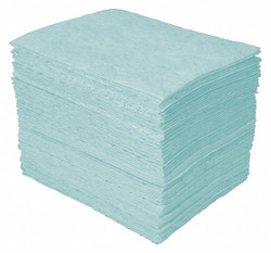 """12"""" Absorbent Pad, Fluids Absorbed: Universal, Heavy, 20 gal., 200 PK"""