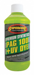 A/C Compressor PAG Lubricant, w/UV Dye, 8 oz., Plastic Bottle, Red/Yellow Tint