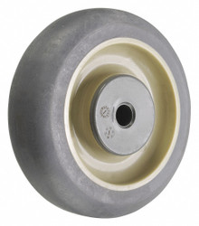 Albion Antimicrobial Nonmarking Rubber Tread on Plastic Core Wheel