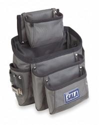 "3m Dbi-sala 11 Pocket Tool Pouch 11""H x 7-1/2""W Gray/Black  Duck Canvas  9504066"