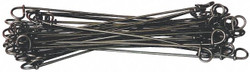 American Wire Double Loop Ties Black Annealed Wire Black Bare Wire 16BA8