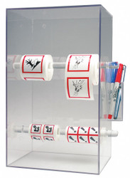 Accuform Tape and Label Dispenser, Acrylic, Clear Clear  Acrylic HLS801