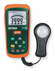 Extech Light Meter, 0 To 40K Fc, 0 To 400K Lux  LT300