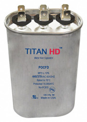 Titan Hd Oval Motor Dual Run Capacitor, 30/5 Microfarad Rating, 440VAC Voltage