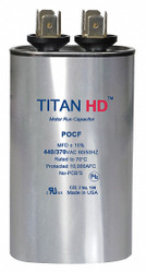 Titan Hd Oval Motor Run Capacitor, 60 Microfarad Rating, 440VAC Voltage  POCF60A