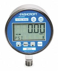 "0 to 300 psi Digital Pressure Gauge, 3"" Dial, 1/4"" MNPT Connection, Metal"