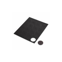 "Heavy-Duty Board Magnets, Circles, Black, 0.75"", 20/Pack FM1605"