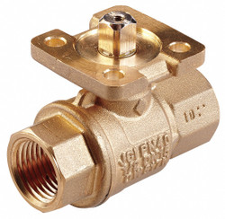 2-Way HVAC Control Ball Valve, Valve Only, (F)NPT, Coefficient of Volume 11.7