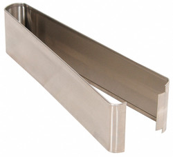 """— Shoe SS Split 18W x 3H for Steel Partition, 3""""H x 18""""W x 1-1/4"""" Thickness"""