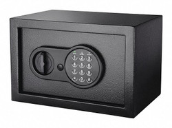 "12-1/4"" x 8"" x 8"" Security Safe, Black; Holds Documents, Records and Valuables"