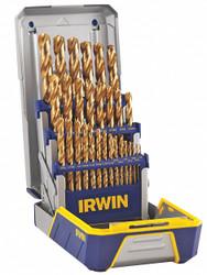 Irwin Twist Drill Bit Set, HSS, TiN Coated, 29pcs  3018003