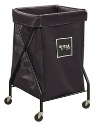 "1-Compartment X-Frame Laundry Cart, 150 lb. Capacity, 20"" L X 20"" W X 35-1/2"" H"