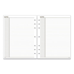 Lined Notes Pages, 11 x 8.5, White, 30/Pack 018200
