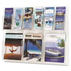 Reveal Clear Literature Displays, 9 Compartments, 30w x 2d x 22.5h, Clear 5605CL