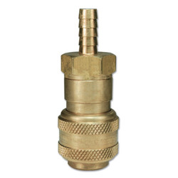 Air Chief Industrial Automatic Coupler Standard Hose Barb, 1/2 x 1/2 in, Brass